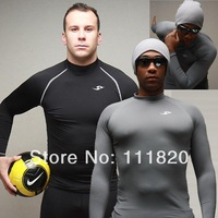 New Men Elastic Tight Sports T Shirt Male Bodybuilding T-shirts Tight Tops SHORT Sleeves Workout Clothes For Men Free Ship 327