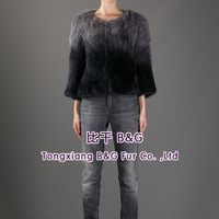 BG60110 Genuine Natural Fur Jackets Wholesale Retail 2014 New Style Ladies Natural Knit Fur Jackets
