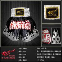 Top Quality men letter muay thai shorts embroidery satin boxing pants shorts free combat pants muay thai shorts sanda service