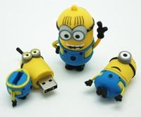 2014 Newest Cartoon Toy Minions Despicable Me 2 USB 2.0 flash drive 8GB  USB 2.0 Memory Stick,usb flash disk Freeship