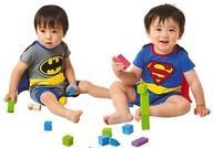 100% cotton Superman Rompers/ Unisex Baby Infant Romper Halloween Costume/ Batman design rompers