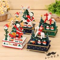 Christmas tree santa claus music box silent night christmas gifts home decoration christmas music box