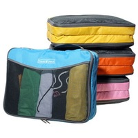 large size Nylon mesh zipper travel check travel storage bag