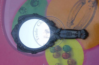 foldable portable pocket plastic mirror vintage butterfly Compact hand Cosmetic Make Up CN post