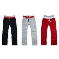 Hot Sale,2014 Fashion Brand Sports MENS CLASSIC STRAIGHT FLEECE SWEATPANTS,Stylish Rope Pants S-XXL Free shipping
