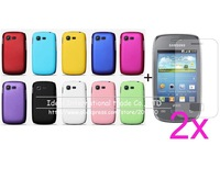 new free shipping matte hard rubber case corver+2X screen protector lcd film guard For Samsung Galaxy Pocket Neo S5310