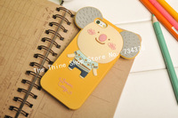3Pcs/lot 2014 hot selling 3D Cute ROMAN Lovely Animals Korea Soft Silicon Case for iPhone 5  Romani Case Free Shipping