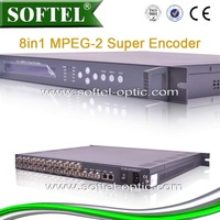 MPEG-2  8 in 1 Super Encoder, IP Output Encoder, Digital 8  in 1 SD Encoder
