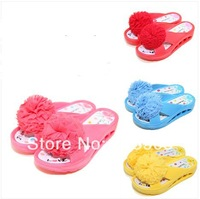 Free Shipipng Flower Shoes Wedges Slippers Women's Sandals 2014 Flip Flops