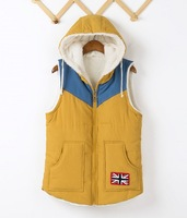 2013 autumn casual thickening with a hood down cotton autumn and winter vest female vest female outerwear