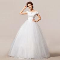2014 new arrival princess bride tube top slit neckline wedding dress