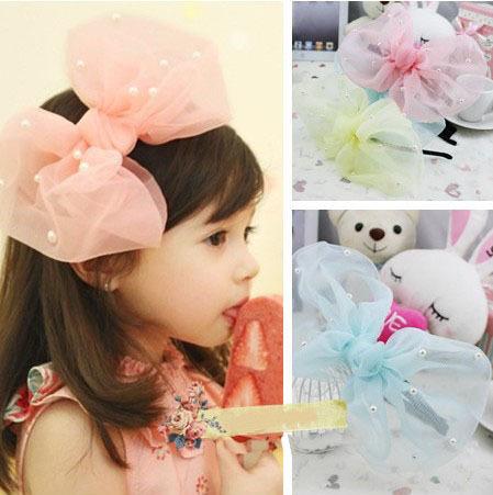 Spring and Summer Child Hair Accessory Children Hair Accessories Baby Princess Hair Bands Female Chiffon Headband XM-44(China (Mainland))