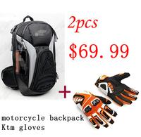 motorcycle backpack + Ktm gloves $69.99 free shipping moto bag