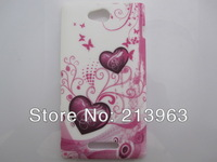 Sample Retail  Butterfly Flower Heart Zebra Star TPU Rubber Soft Cover Case For Sony Xperia C S39h C2305