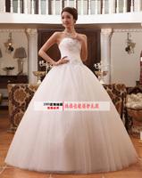 2014 new arrival sweet princess puff wedding dress tube top quality