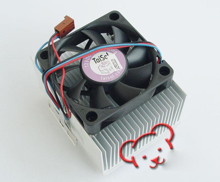 Double Crown genuine TaiSol 462 -pin dual ball bearing fan old amd heatsink fan silent type 462(China (Mainland))