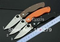 Spyderco C36 Folding Blade Knife 5 cr13mov Blade 58 HRC G10 Handles,Pocket Knife Hunting Knives Outdoor Camping Knife
