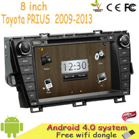 """HD 8"""" inch Android 4.0 Car DVD For TOYOTA PRIUS 2009-2013 Left / Right Driving With GPS Bluetooth 3G Free WiFi dongle +Map +DHL"""
