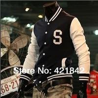 Trendy Designed Baseball Fit Uniform Slim Coat Jackets for Men Outerwear M~XXL Free Shipping