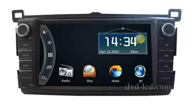 Toyota RAV4 2013 Car DVD GPS player Radio navigation Head units TV Ipod BT RDS Dual zone(China (Mainland))
