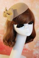 24068 Classtical dinner ferdoras/Woolen dome caps/Dome beret/Vintage caps/Kate ferdoras/Bow decoration