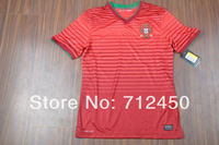 HOT sell!!! top Thailand Quality Portugal jersey Players Version 2014 World Cup Portugal home red Soccer Jersey Football shirts