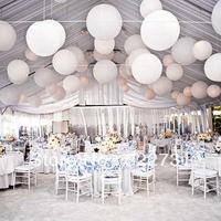 "Free shipping Wedding Favor 12"" (30 cm) 20 PCS/Lot White Paper Lanterns Wholesale"