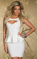 The spring of 2014 the new popular night club Bodycon hollow out package hip skirt women free shipping