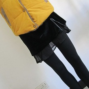 2013 autumn and winter lis gold velvet genuine leather bag thickening basic skirt pants(China (Mainland))