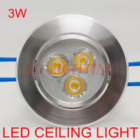 10pcs/lot LED Embedded 3W ceiling light spotlight warm white/cold white AC85~265V