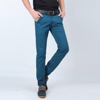wholesale 2014 men's clothing pants men's mid waist casual pants autumn thick cotton casual trousers slim 919