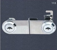 Free Shipping  Glass cabinet lock for double glass furniture, sliding door lock