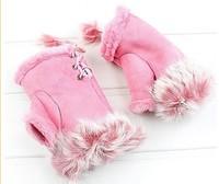 2013 women's semi-finger women's rabbit fur gloves autumn and winter thermal gloves