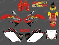 NEW STYLE 0386 DRAGON POWER TEAM GRAPHICS & BACKGROUNDS DECALS STICKERS Kits for HONDA CRF450 2008