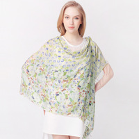 Rglt 2013 autumn and winter thermal women's print cashmere scarf long design cape dual