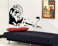Mix Wholesale Order Wall Stickers Home Decor Pvc Vinyl Paster Removable Art Mural Lions