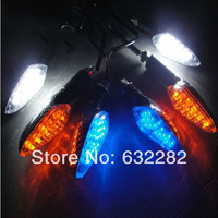 2x LED Universal Fashionable Blinker Motorcycle Blue Red Yellow Green  Turn Signal Light 12V Indicator Motorbike Pilot Lamp