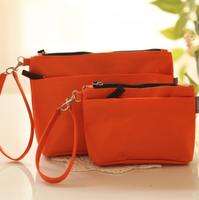 10pcs/lots Solid color double zipper cosmetic bag coin purse/ cell phone pocket /debris bags