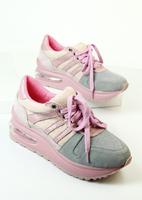 16 preppy style comfortable platform single shoes nubuck cowhide patchwork lacing sport shoes round toe shoes casual shoes