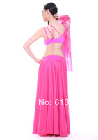 1set  a lot mix color  seet free shipping bra + dress  Belly Dance Costume Set qc2095 pink