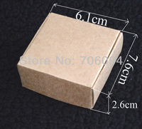 7.6*6.1*2.6CM,100pcs/lot, Free Shipping Jewerly kraft paper box Brown kraft handmade gift boxes,custom box logo kraft paper box