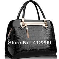 2014 Desigual fashion designers famous luxury brands totes bags women messenger real crocodile pattern genuine leather handbags