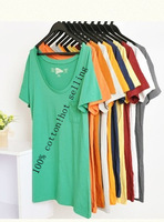 3pcs/lot Hot Sale Lady Summer Clothing Large Size  Maternity Fashion Loose T-Shirt 2014 New PRINTED Charm Women Casual Tops