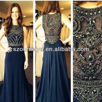 OED257 navy blue evening dress dress party evening elegant