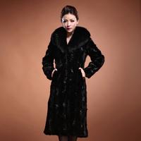 Free shipping EMS  2014 warm long style  mink overcoat women's fur coat