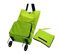 Household Portable Shopping Bag Foldable Travel Luggage Cart Baggage Cart Wheels