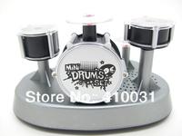 Mini Finger Drum Set Novelty Desk Musical Toy Touch Drumming LED Light Jazz Percussion for Kids Child Children Instrument Office