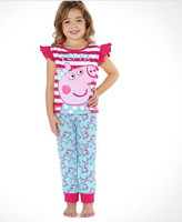 Peppa Pig Cartoon Short-sleeved Suit Girls Cartoon Short-sleeved Suit Children Suit 2014 New