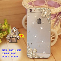 New 2014 Rhinestone case for iPhone 4 4s/5 5s + Dust plug  This is a Sell Combination