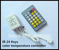 4pcs/lot IR 24 Keys color temperature controller DC5v 12v - 24v for 5050/3528 led strip light and RGB LED module